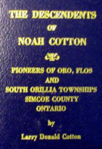 Descendents of Noah Cotton